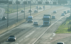 © Licensed to London News Pictures. 24/12/2018. Dartford, UK.An unusually quiet M25 near Dartford this Christmas eve afternoon as the Christmas holiday starts. Photo credit: Grant Falvey/LNP