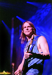 Steve Morse Lead Guitarist with the legendry Rock Band Deep Purple, Rocking the Sheffield City Hall audience on Feb 12 2002. The two hour set,  part of the bands 2002 - 2003 world tour featured many of the old classics, When a Blindman Cries, Hush,Smoke On The Water, Black Night, Woman from Tokyo, Highway Star, Lazy alnong with some of the newer numbers and one Brand new and as yet unrecorded song.