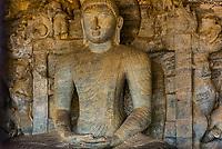 Samadhi Buddha statue, Gal Vihara, Ruins of ancient city, Polonnaruwa, Sri Lanka.