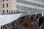 Exterior of Grand Central on 12th January 2021 in Birmingham, United Kingdom. Grand Central is a shopping centre that opened on 24 September 2015. It is currently owned by Hammerson and CPPIB. The original centre was built in 1971 as part of the reconstruction of Birmingham New Street station. It was known as the Birmingham Shopping Centre before being renamed as The Pallasades. As part of the New Street Station Gateway Plus redevelopment, Grand Central underwent a major overhaul. The mall has been redesigned with a glass atrium roof as centrepiece, and is home to over 60 stores with John Lewis as main anchor tenant.