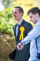 Pictured: Fayzan Rehman (Stirling North) <br /> Scottish Liberal  Party leader Willie Rennie headed to Bridge of Alaln today to meet local candidates and see how his tennis is coming along. He met candidates Fayzan Rehman (Stirling North) and Stuart Auld (Dunblane and Bridge of Allan)<br /> <br /> Ger Harley   EEm 28 February 2017