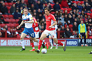 Charlton Athletic midfielder Krystian Bieklik (4) dribbling into midfield during the EFL Sky Bet League 1 match between Charlton Athletic and Rochdale at The Valley, London, England on 4 May 2019.