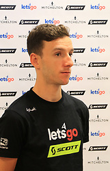 Mitchelton-Scott rider Adam Yates during a media asession at the team hotel in Les Herbiers.