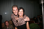 URI GELLER AND ALISON JACQUES, private view  of new exhibition by Tim Stoner , Alison Jacques Gallery in new premises in Berners St., London, W1 ,Afterwards across the rd. at the Sanderson Hotel. 3 May 2007. DO NOT ARCHIVE-© Copyright Photograph by Dafydd Jones. 248 Clapham Rd. London SW9 0PZ. Tel 0207 820 0771. www.dafjones.com.