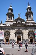 Plaza de Armas in Santiago de Chile during Christmas time.