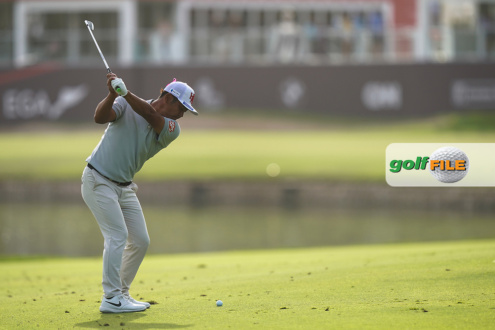 Hideto Tanihara (JPN) in action during the second round of the Omega Dubai Desert Classic, Emirates Golf Club, Dubai, UAE. 25/01/2019<br /> Picture: Golffile   Phil Inglis<br /> <br /> <br /> All photo usage must carry mandatory copyright credit (© Golffile   Phil Inglis)