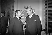 16/11/1966<br /> 11/16/1966<br /> 16 November 1966<br /> Palgrave Murphy/North Sea Ferries reception to announce the appointment of agents for North Sea Ferries in the Republic of Ireland and new Ireland - Europe travel link, at Palgrave Murphy, Eden Quay Dublin. (l-r): Mr. John Gordon, Managing Director, Palgrave Murphy Ltd. and Mr. Ian Churcher, General Manager, North Sea Ferries.