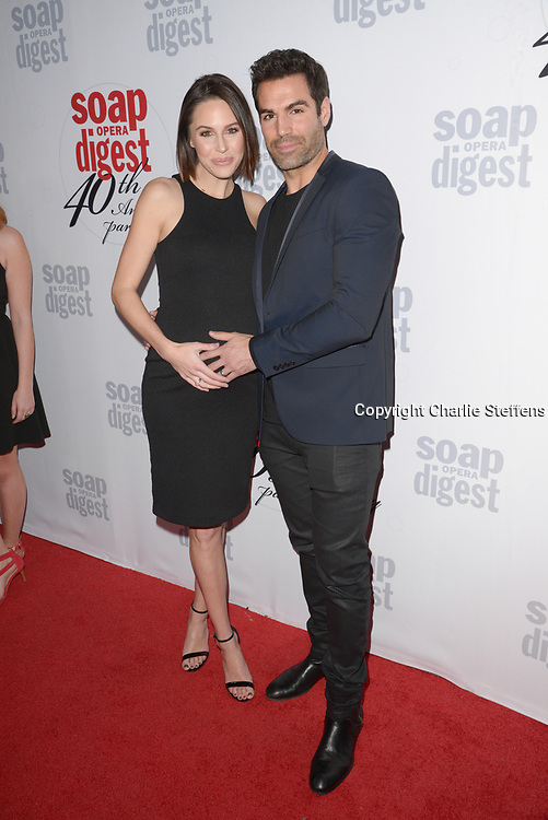 KAITLIN RILEY (L) and JORDI VILASUSO at Soap Opera Digest's 40th Anniversary party at The Argyle Hollywood in Los Angeles, California
