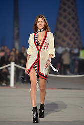 A model walks the runway at the TommyLand Tommy Hilfiger Spring 2017 Fashion Show on February 8, 2017 in Venice, Los Angeles, CA, USA. Photo by Lionel Hahn/ABACAPRESS.COM