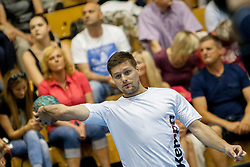 Marko Bezjak #8 of Slovenia during handball match between National teams of Slovenia and Hungary in play off of 2015 Men's World Championship Qualifications on June 15, 2014 in Rdeca dvorana, Velenje, Slovenia. Photo by Urban Urbanc / Sportida