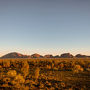 Dawn at Kata Tjuta with clear sky