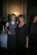 Lady Annabel Goldsmith and  Lady Cosima Somerset. Party for Bret Easton Ellis's book 'Lunar Park'  given by Geordie Greig. Home House. Portman Sq. London.  London. 5 October 2005. . ONE TIME USE ONLY - DO NOT ARCHIVE © Copyright Photograph by Dafydd Jones 66 Stockwell Park Rd. London SW9 0DA Tel 020 7733 0108 www.dafjones.com