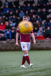 Stenhousemuir's Andy Munro. Stenhousemuir 1 v 0 Airdrie, Scottish Football League Division One played 26/1/2019 at Ochilview Park.