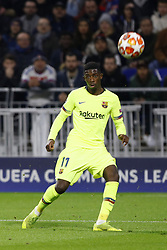 February 19, 2019 - Lyon, France - Moussa Dimbele during the UEFA Champions League round of 16 first leg football match between Lyon (OL) and FC Barcelona on February 19, 2019, at the Groupama Stadium in Decines-Charpieu, central-eastern France. (Credit Image: © Mehdi Taamallah/NurPhoto via ZUMA Press)