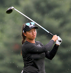 June 16, 2018 - Belmont, Michigan, United States - Megan Khang of Rockland, Massachussetts hits from the 5th tee during the third round of the Meijer LPGA Classic golf tournament at Blythefield Country Club in Belmont, MI, USA  Saturday, June 16, 2018. (Credit Image: © Amy Lemus/NurPhoto via ZUMA Press)