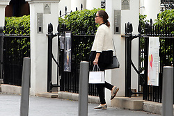 EXCLUSIVE ***NO WEB*** Pippa Middleton is seen leaving the Santi Spa in Kensington. It has been reported that Pippa has been attending the spa which promises to create the perfect 'Hollywood' pins. Lifetime membership at the club costs £55000.<br /> <br /> 15 May 2017.<br /> <br /> Please byline: Vantagenews.com