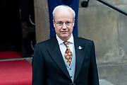 Koning Willem-Alexander en koningin Maxima komen aan bij het Koninklijk Paleis voor de traditionele nieuwjaarsontvangst voor  Corps Diplomatique en internationale organisaties.  <br /> Op de foto: Sjoerd Klein Schiphorst