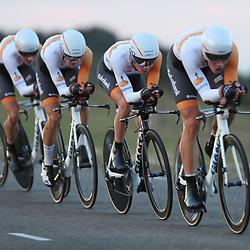 27-09-2016: Wielrennen: Olympia Tour: HardenbergHARDENBERG (NED) wielrennenNederlands oudste wielerkoers ging van start in Hardenberg met een ploegentijdrit.Rabobank Dev team
