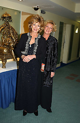 Left to right, Actress RULA LENSKA and her sister ANNA LUBIENSKA at the charity Vanishing Herd Foundation - Conservation Ball held at the Radison Hotel, Portman Square, London on 13th November 2004.<br /><br />NON EXCLUSIVE - WORLD RIGHTS