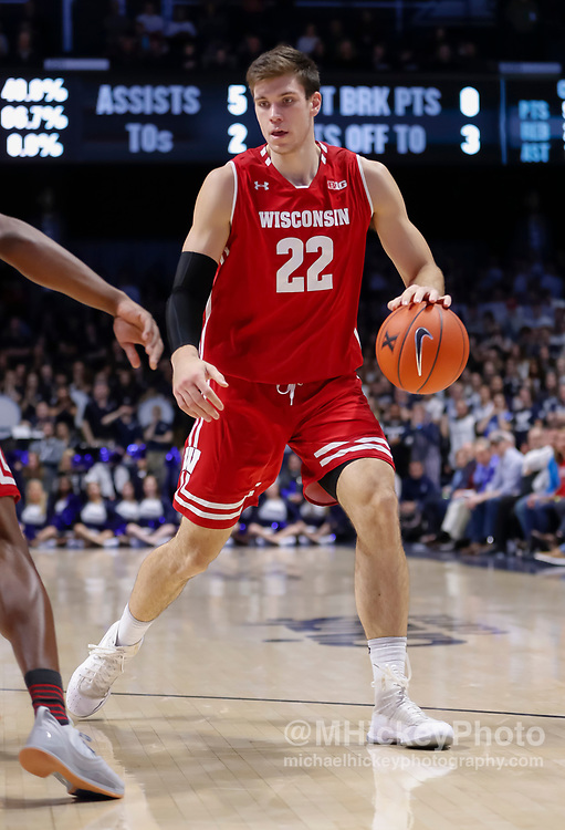 CINCINNATI, OH - NOVEMBER 13: Ethan Happ #22 of the Wisconsin Badgers is seen during the game against the Xavier Musketeers at Cintas Center on November 13, 2018 in Cincinnati, Ohio. (Photo by Michael Hickey/Getty Images) *** Local Caption *** Ethan Happ