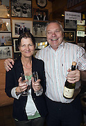 Paidi and Maire O'Se celebrate 25 years in his pub at Ard an Bothair, Ventry,County Kerry in 2010.. Hundreds of loyal fans and members of the Haughey family attended the celebration.<br /> Picture by Don MacMonagle
