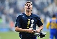 L'esultanza di Hernan Crespo (Parma) a fine partita<br /> Juventus Parma 1-4 - Campionato di Serie A Tim 2010-2011<br /> Stadio Olimpico, Torino, 06/01/2011<br /> © Insidefoto