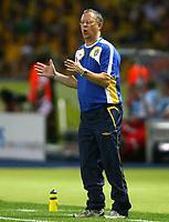 Fotball<br /> VM 2006<br /> 15.06.2006<br /> Sverige v Paraguay<br /> Foto: Witters/Digitalsport<br /> NORWAY ONLY<br /> <br /> Trainer Lars Lagerbäck Schweden
