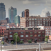 View of Downtown Kansas City Skyline in the afternoon from Union Station parking garage.
