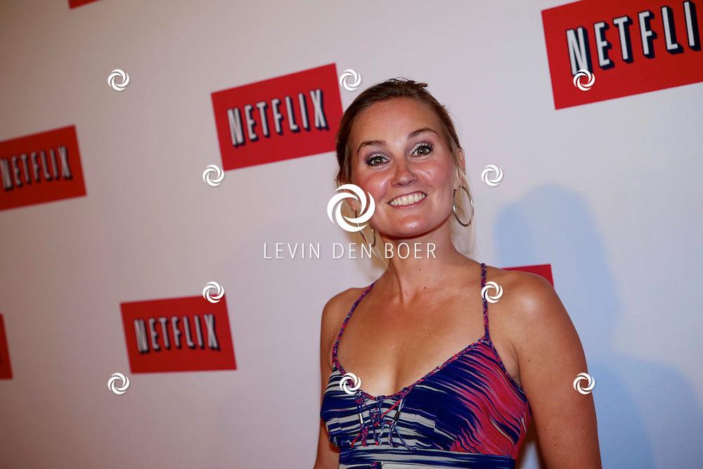AMSTERDAM - In West Indisch Huis hield Netflix hun lanceringsparty met diversen bekende Nederlanders op de rode loper. Met hier op de foto   Peggy Vrijens. FOTO LEVIN DEN BOER - PERSFOTO.NU