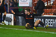 Lynden Gooch of Sunderland (11) reacts after been fouled during the EFL Sky Bet League 1 match between Barnsley and Sunderland at Oakwell, Barnsley, England on 12 March 2019.