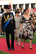 Religious wedding of Grand Duke Guillaume and Princess Stephanie at the Cathedral Notre-Dame in Luxembourg <br /> <br /> On the photo:  Prince Edward the Earl of Wessex and his wife Sophie Rhys-Jones, the Countess of Wessex