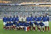 Fotball<br /> Foto: Dppi/Digitalsport<br /> NORWAY ONLY<br /> <br /> FIFA CENTENNIAL MATCH<br /> FRANKRIKE V BRASIL<br /> 20.05.2004<br /> <br /> TEAM FRANCE ( BACK ROW LEFT TO RIGHT : PHILIPPE MEXES / OLIVIER DACOURT / SIDNEY GOVOU / LOUIS SAHA / OLIVIER KAPO / MIKAEL LANDREAU / OLIVIER COUPET / ZINDEDINE ZIDANE / MARCEL DESAILLY / WILLIAM GALLAS / JEAN ALAIN BOUMSONG / LILIAN THURAM / PATRICK VIEIRA . FRONT ROW : SYLVAIN WILTORD / SYLVAIN ARMAND / PEGGUY LUYINDULA / BENOIT PEDRETTI / BERNARD MENDY / DAVID TREZEGUET / CLAUDE MAKELELE / THIERRY HENRY / ROBERT PIRES )