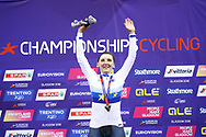 Podium, Women Individual Pursuit, Lisa Brennauer (Germany) gold medal, during the Track Cycling European Championships Glasgow 2018, at Sir Chris Hoy Velodrome, in Glasgow, Great Britain, Day 3, on August 4, 2018 - Photo Luca Bettini / BettiniPhoto / ProSportsImages / DPPI
