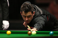 Ronnie O'Sullivan (Eng) in action. Ronnie O'Sullivan (Eng) v Neil Robertson (Aus), Quarter-Final match at the Dafabet Masters Snooker 2017, at Alexandra Palace in London on Thursday 19th January 2017.<br /> pic by John Patrick Fletcher, Andrew Orchard sports photography.