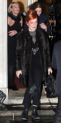 ©London News pictures. 21.02.2011. Vivienne Westwood leaves an event at No 10 Downing Street hosted by Prime Minister's wife Samantha Cameron to celebrate the UK's fashion industry. Picture Credit should read Carmen Valino/LNP