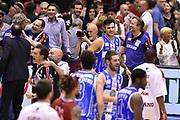 DESCRIZIONE : Milano Lega A 2014-15 EA7 Emporio Armani Milano vs Banco di Sardegna Sassari playoff Semifinale gara 7 <br /> GIOCATORE : Brian Sacchetti team<br /> CATEGORIA : esultanza postgame<br /> SQUADRA : Banco di Sardegna Sassari<br /> EVENTO : PlayOff Semifinale gara 7<br /> GARA : EA7 Emporio Armani Milano vs Banco di Sardegna SassariPlayOff Semifinale Gara 7<br /> DATA : 10/06/2015 <br /> SPORT : Pallacanestro <br /> AUTORE : Agenzia Ciamillo-Castoria/GiulioCiamillo<br /> Galleria : Lega Basket A 2014-2015 Fotonotizia : Milano Lega A 2014-15 EA7 Emporio Armani Milano vs Banco di Sardegna Sassari playoff Semifinale  gara 7 Predefinita :