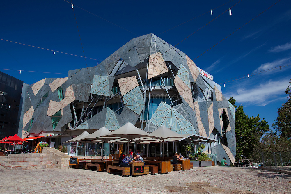 Arintji Cafe Bar, Federation Square, Melbourne Editorial use only.