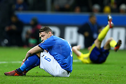 November 13, 2017 - Milan, Italy - FIFA World Cup Qualifiers play-off Switzerland v Northern Ireland.The disappointment of Andrea Belotti of Italy at the end of the match at San Siro Stadium in Milan, Italy on November 13, 2017. (Credit Image: © Matteo Ciambelli/NurPhoto via ZUMA Press)