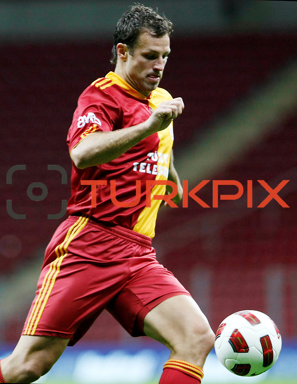Galatasaray's Lucas NEILL during their Turkish superleague soccer derby match Galatasaray between Trabzonspor at the TT Arena in Istanbul Turkey on Sunday, 10 April 2011. Photo by TURKPIX