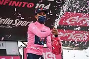Foto Massimo Paolone/LaPresse<br /> 22 maggio 2021 Italia<br /> Sport Ciclismo<br /> Giro d'Italia 2021 - edizione 104 - Tappa 14 - Da Cittadella a Monte Zoncolan (km 205)<br /> Nella foto: BERNAL GOMEZ Egan Arley (COL) (INEOS GRENADIERS) maglia rosa<br /> <br /> Photo Massimo Paolone/LaPresse<br /> May 22, 2021  Italy  <br /> Sport Cycling<br /> Giro d'Italia 2021 - 104th edition - Stage 14 - from Cittadella to Monte Zoncolan <br /> In the pic: BERNAL GOMEZ Egan Arley (COL) (INEOS GRENADIERS) pink jersey