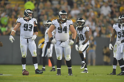 Beau Allen #94 of the Philadelphia Eagles against the Green Bay Packers at Lambeau Field on August 29, 2015 in Green Bay, Pennsylvania. The Eagles won 39-26. (Photo by Drew Hallowell/Philadelphia Eagles)