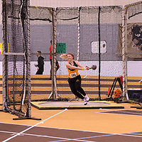 Danielle Fedak in action during the 2018 Canada West Track & Field Championship on February  24 at James Daly Fieldhouse. Credit: Arthur Ward/Arthur Images