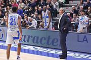 DESCRIZIONE : Campionato 2014/15 Serie A Beko Dinamo Banco di Sardegna Sassari - Acqua Vitasnella Cantu'<br /> GIOCATORE : Jeff Brooks Shane Lawal<br /> CATEGORIA : Ritratto Esultanza Cambio Sostituzione<br /> SQUADRA : Dinamo Banco di Sardegna Sassari<br /> EVENTO : LegaBasket Serie A Beko 2014/2015<br /> GARA : Dinamo Banco di Sardegna Sassari - Acqua Vitasnella Cantu'<br /> DATA : 28/02/2015<br /> SPORT : Pallacanestro <br /> AUTORE : Agenzia Ciamillo-Castoria/L.Canu<br /> Galleria : LegaBasket Serie A Beko 2014/2015