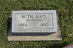 23 September 2017:  Ruth Hays. West Union Cemetery is located on the north side of Illinois Rt 9 between Danvers and Mackinaw.  It is located within McLean County