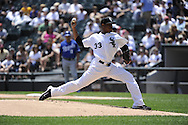 CHICAGO - JULY 06:  Edwin Jackson #33 of Chicago White Sox pitches against the Kansas City Royals on July 6, 2011 at U.S. Cellular Field in Chicago, Illinois.  The Royals defeated the White Sox 4-1.  (Photo by Ron Vesely)  Subject: Edwin Jackson
