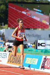 Meraf Bahta of Sweden in the 1500m. Folksam Grand Prix Göteborg, Slottskogsvallen, 14. juni 2014.