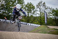 #777 (MAIRE Camille) FRA during practice at Round 3 of the 2019 UCI BMX Supercross World Cup in Papendal, The Netherlands
