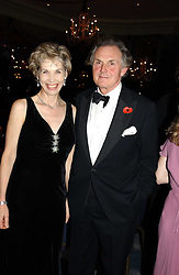 LORD & LADT HINDLIP at the Dyslexia Awards Dinner 2004 held at The Dorchester, Park Lane, London on 2nd November 2004.<br /><br />NON EXCLUSIVE - WORLD RIGHTS