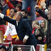 Galatasaray's coach Fatih Terim during their Turkish Superleague soccer match Galatasaray between Orduspor at the AliSamiyen Spor Kompleksi TT arena in Istanbul Turkey on Monday 25 February 2013. Photo by Aykut AKICI/TURKPIX