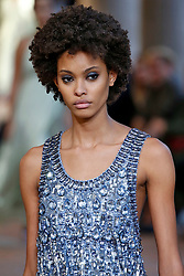 Model Samile Bermannelli walks on the runway during the Alberta Ferretti Fashion Show during Milan Fashion Week Spring Summer 2018 held in Milan, Italy on September 20, 2017. (Photo by Jonas Gustavsson/Sipa USA)